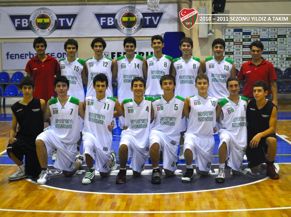 Beylerbeyi Basketbol 2010-2011 sezonu 1996 doğumlu Yıldız B toplu